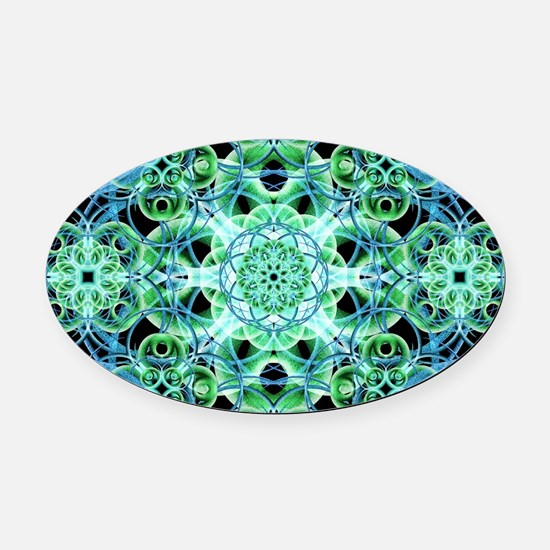 Cool Sacred geometry Oval Car Magnet