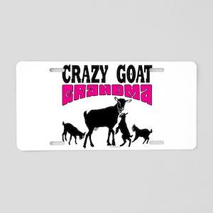 GOAT LOVER   Crazy GOAT Gra Aluminum License Plate