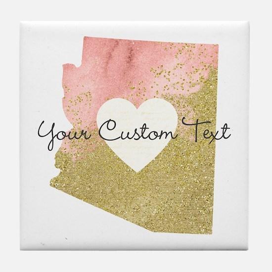 Personalized Arizona State Tile Coaster