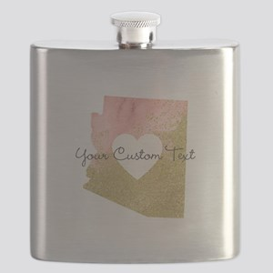 Personalized Arizona State Flask
