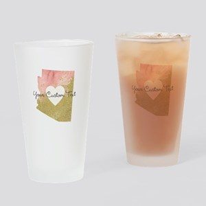 Personalized Arizona State Drinking Glass