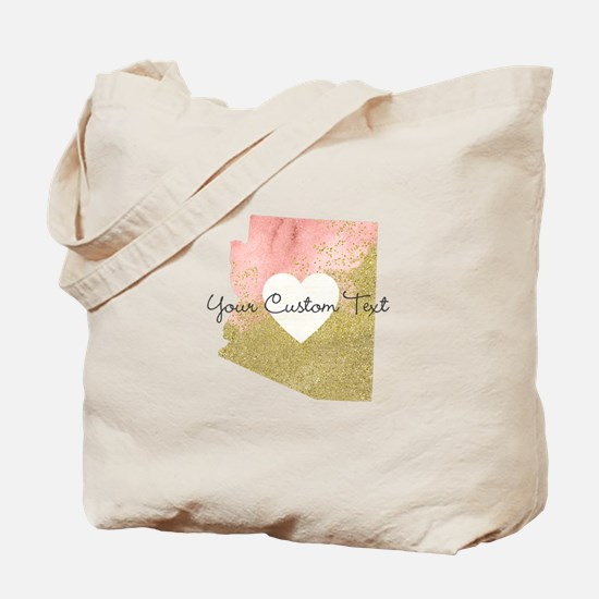 Personalized Arizona State Tote Bag