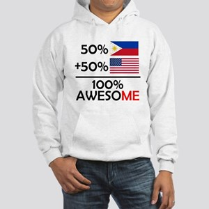 Half Filipino Half American Hoodie Sweatshirt