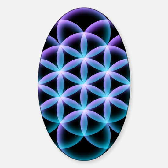 Unique Healing mandala Sticker (Oval)