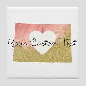 Personalized Colorado State Tile Coaster