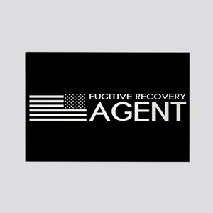 U.S. Flag & Fugitive Recovery Age Rectangle Magnet