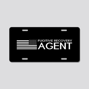 U.S. Flag & Fugitive Recove Aluminum License Plate