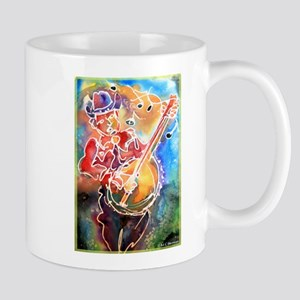 Banjo! Cowboy art! Mugs