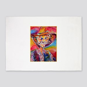 Cowboy! Colorful, fun art! 5'x7'Area Rug