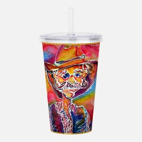 Cowboy! Colorful, fun art! Acrylic Double-wall Tum