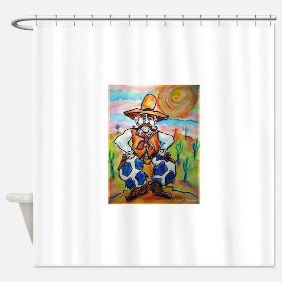 Cowboy! Fun western art! Shower Curtain