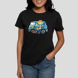 Hippie Girl and Camper Van T-Shirt