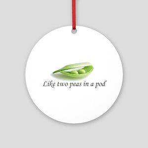 Peas In A Pod Ornament (Round)
