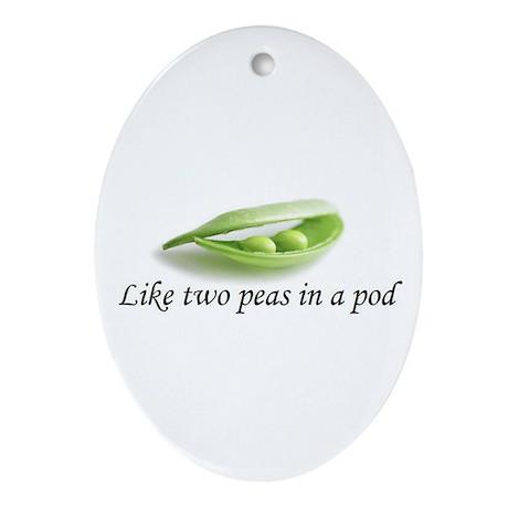 Peas In A Pod Oval Ornament