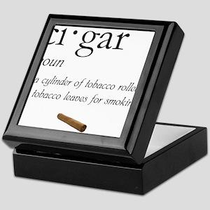 Cigar Definition Keepsake Box