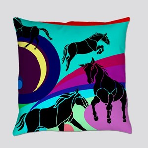 Pop Art Horses Everyday Pillow