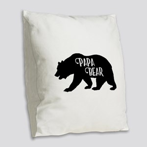 Papa Bear - Family Collection Burlap Throw Pillow