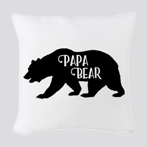 Papa Bear - Family Collection Woven Throw Pillow