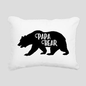 Papa Bear - Family Colle Rectangular Canvas Pillow