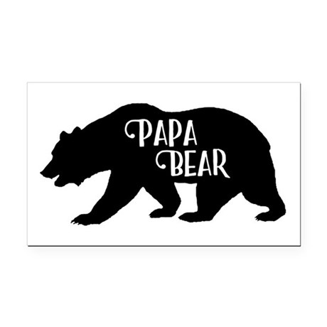 papa bear family collection rectangle car magnet by admin cp134501904