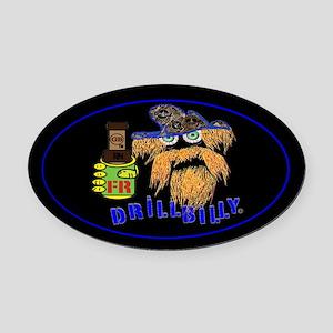 DRILLBILLY BLUE Oval Car Magnet