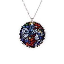Lithuanian Vytis Coat of Arm Necklace Circle Charm