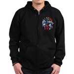 Lithuanian Vytis Coat of Arms Zip Hoodie (dark)
