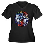 Lithuanian V Women's Plus Size V-Neck Dark T-Shirt