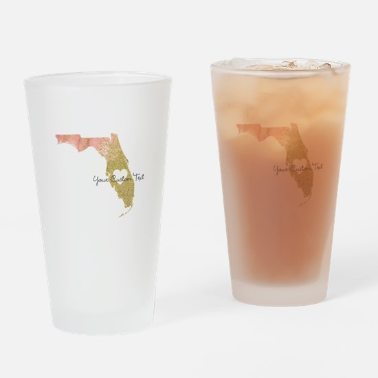 Personalized Florida State Drinking Glass