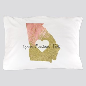 Personalized Georgia State Pillow Case