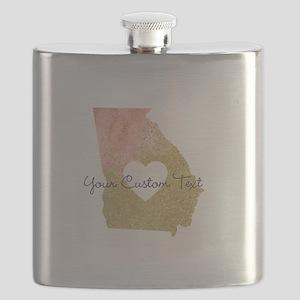Personalized Georgia State Flask