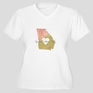Personalized Georgia State Plus Size T-Shirt