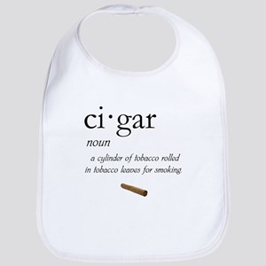 Cigar Definition Cotton Baby Bib