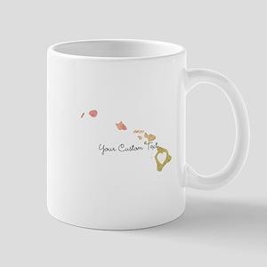 Personalized Hawaii State Mugs
