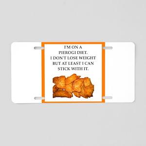 pierogi Aluminum License Plate