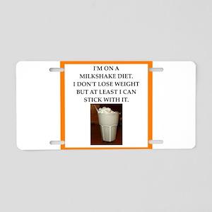 milkshake Aluminum License Plate