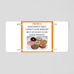 doughnut Aluminum License Plate