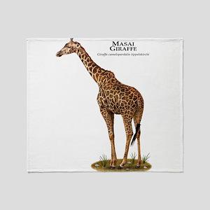 Masai Giraffe Throw Blanket
