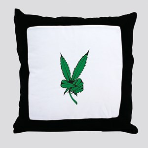 Potleaf Throw Pillow