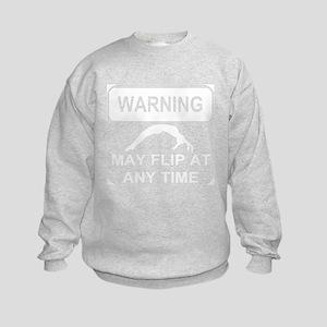 Warning may Flip gymnastic Sweatshirt