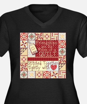 Quilting Friendships Plus Size T-Shirt