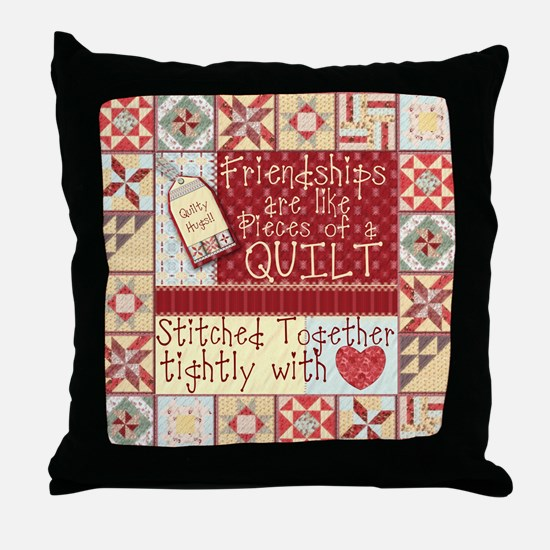 Quilting Friendships Throw Pillow