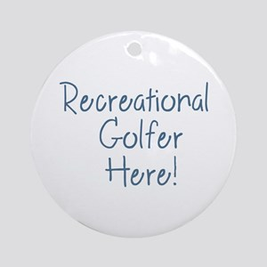 Recreational Golfer Round Ornament