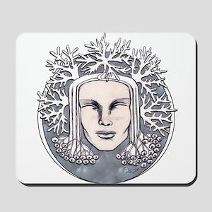 Winter Frost Goddess Mousepad