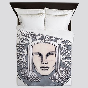 Winter Frost Goddess Queen Duvet