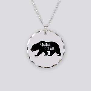 Mama Bear - Family Collectio Necklace Circle Charm