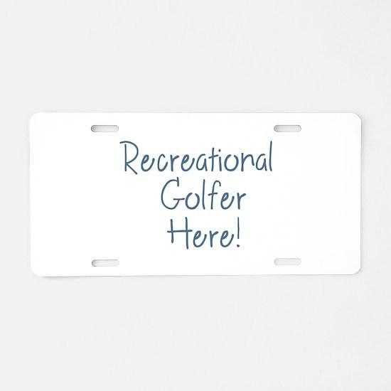 Recreational Golfer Aluminum License Plate