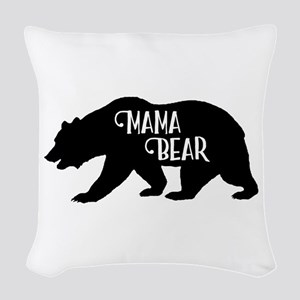 Mama Bear - Family Collection Woven Throw Pillow
