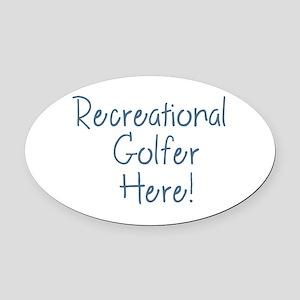 Recreational Golfer Oval Car Magnet