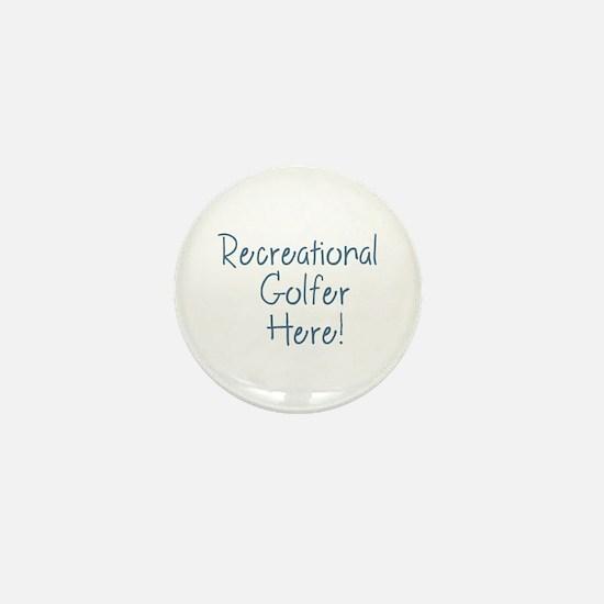 Recreational Golfer Mini Button